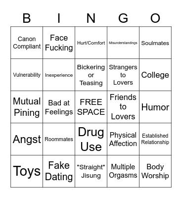 SOPHIE Bingo Card