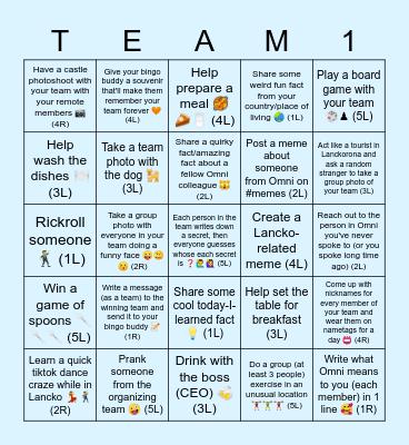 Lanckorona Bingo 2021 Bingo Card