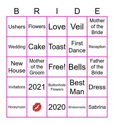 Sabrina Bingo Card