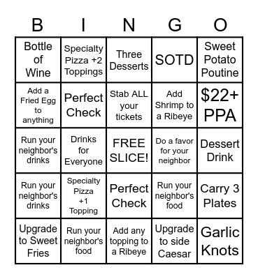 PPie Bingo!!! Bingo Card