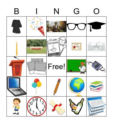 Graduation Bingo Card