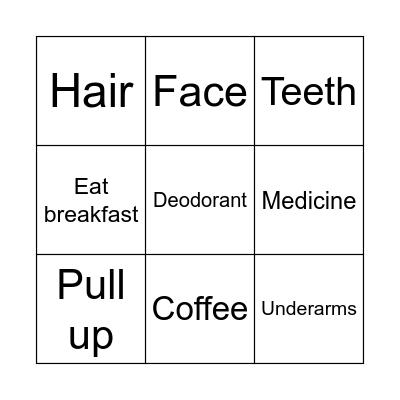 Monday Bingo Card
