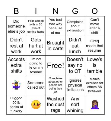 Ground Hog Day Bingo Card
