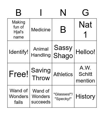Krimson Pheathers Bingo Card