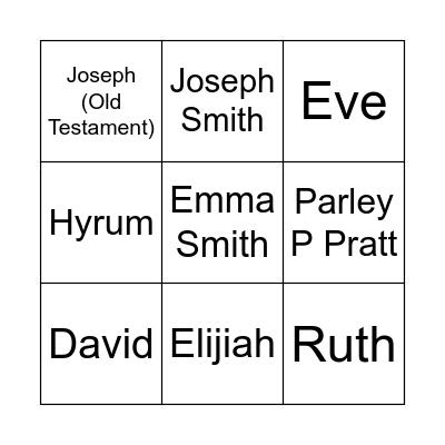 Who's Who?! Bingo Card