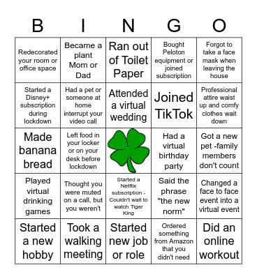 Icebreaker Bingo - Lockdown Edition! Bingo Card