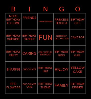 YASH BIRTHDAY APRTY Bingo Card
