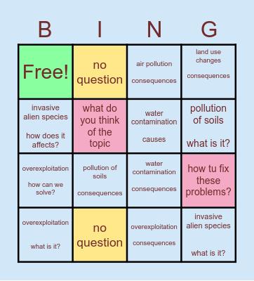 causes of biodiversity loss Bingo Card