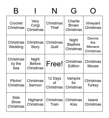 Christmas in July @ the Library Bingo Card