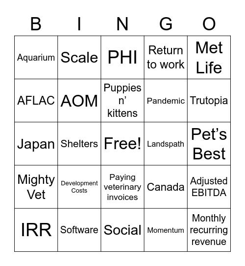 TRUP Q2 Earnings Call Bingo Card