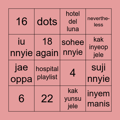 Bingo Games with Pat♡ Bingo Card