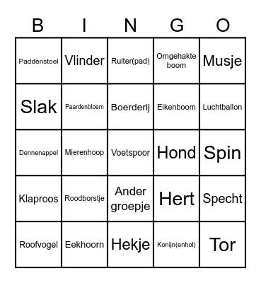 Wat zie je? Bingo Card