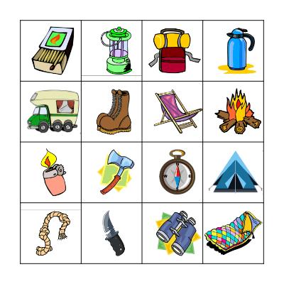 Let's go Camping! Bingo Card