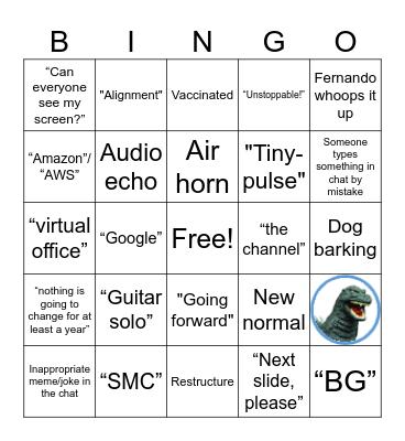 All-hands Bingo: July 29 Edition Bingo Card