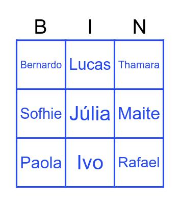 QArraiá Bingo Card