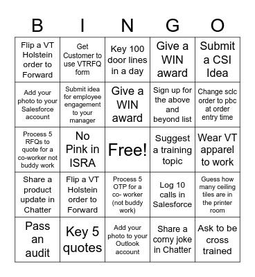 Estimating Bingo Card