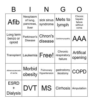 HCC Bingo Card