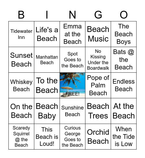 Beaches Reads @ LCL Bingo Card