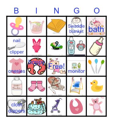 Jayne's Baby Shower Bingo Card