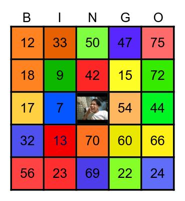ANGELO Bingo Card