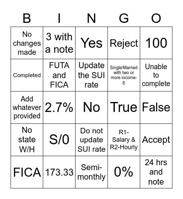 COE-DE Bingo Card