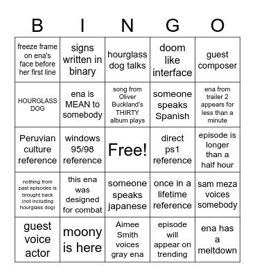 dream bbq prediction bingo Card