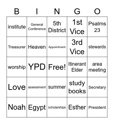 WC WMS Bingo Card
