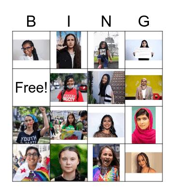 Youth Activist Bingo Card