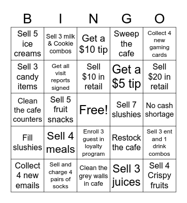 Front Bingo Card