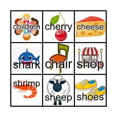 Phonics Unit 1 Bingo Card