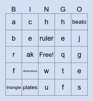 1ID-1 BINGO Card