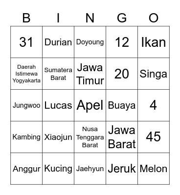 Punya Winter ❄️ Bingo Card