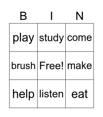 Guess what 3 Bingo Card