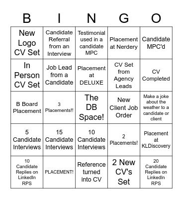 Perm Slayers Bingo Card