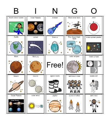 Outer Space BINGO Card