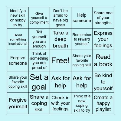 Self-Compassion Bingo Card