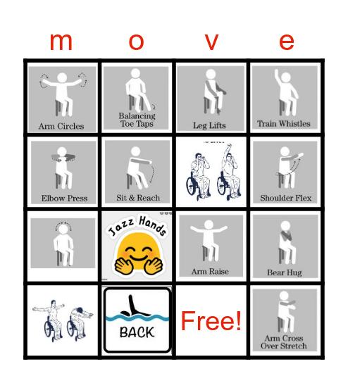 MOVEment Bingo Card