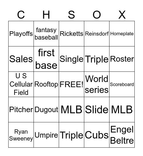 OPENING DAY Bingo Card