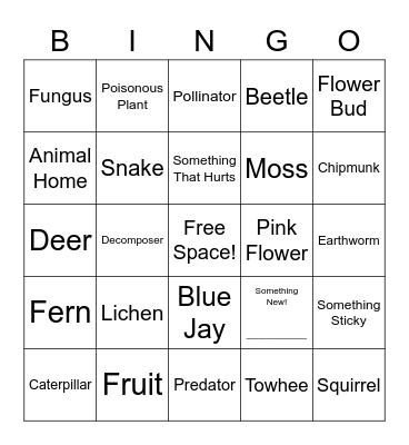 ❀NATURE❀ Bingo Card