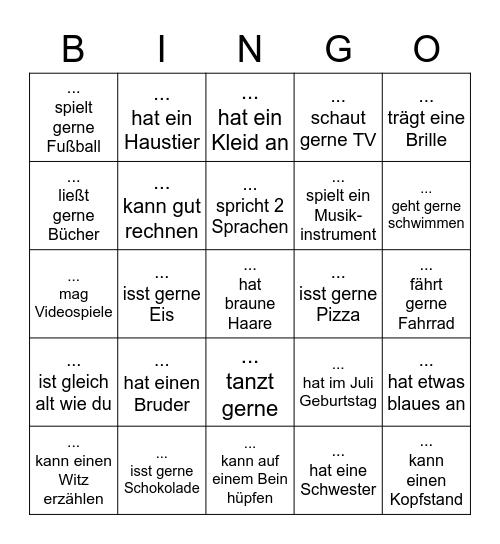 Kennenlern-Bingo Card