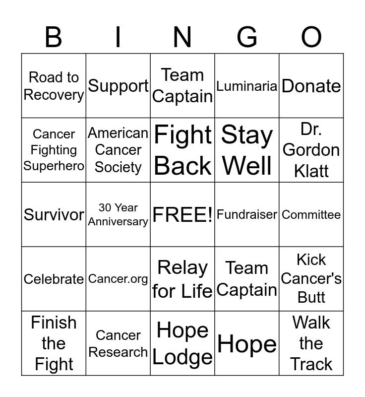 2015 RFL Youngstown Bingo Card