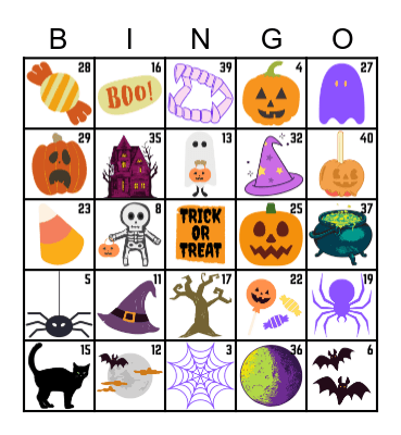 SKX HALLOWEEN Bingo Card