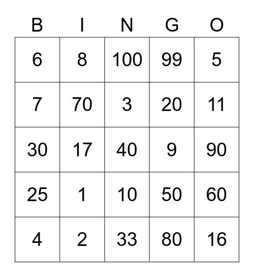 HARRY Bingo Card