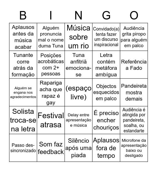 Bingo!Tunas Bingo Card