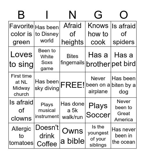 Legacy 2015 Bingo Card