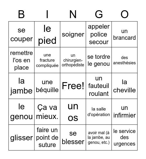 Bon Voyage 2 Chapter 8 Bingo Card