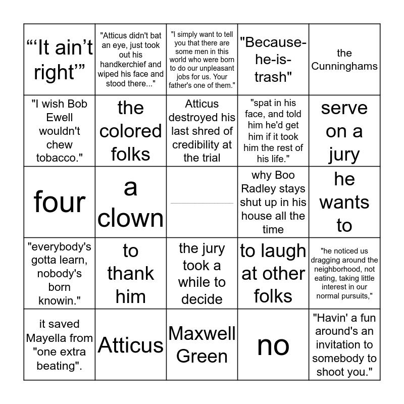 Chapters 22&23 Bingo Card
