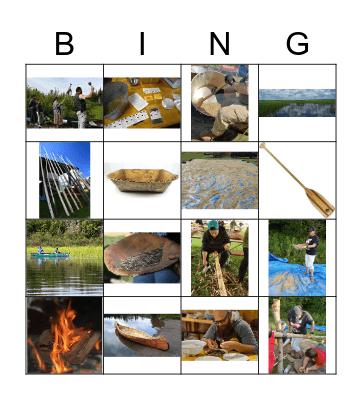 Manoominikewin Bingo Card