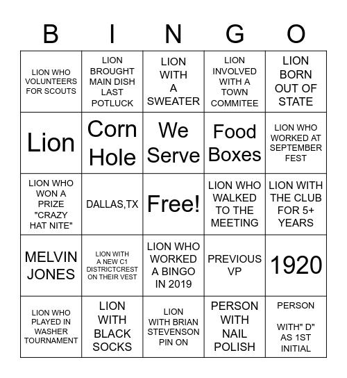 MIDLAND WEST SIDE Bingo Card