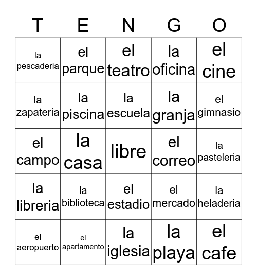 La Comunidad Bingo Card